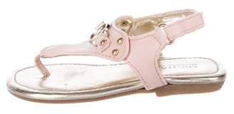 MICHAEL Michael Kors Girls' Leather T-Strap Sandals