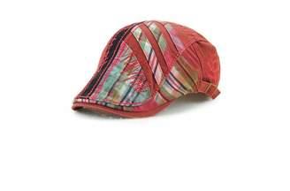 59234277 JAMONT Men's Berets,Cotton Peaked caps,Stitching Grid Fashion Hats