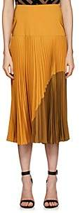 Fendi Women's Pleated Silk Midi-Skirt - Yellow