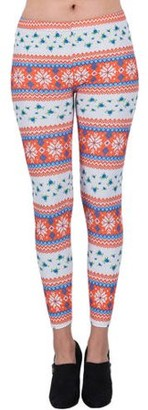 Aerusi AERUSI Women's Blooming Winter Design Full Length Stretchy Leggings