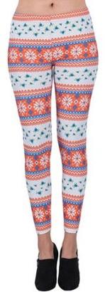 Aerusi Women's Blooming Winter Design Full Length Stretchy Leggings