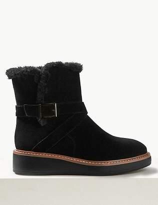 Marks and Spencer Suede Flatform Strap Ankle Boots