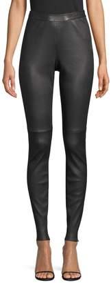 HUGO BOSS Simounia Leather Leggings