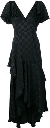 Temperley London Cyndie asymmetric ruffle dress