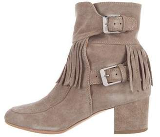 Laurence Dacade Fringe Suede Ankle Boots $275 thestylecure.com