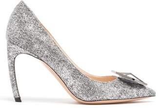 Nicholas Kirkwood Eden Crystal Embellished Boucle Pumps - Womens - Silver