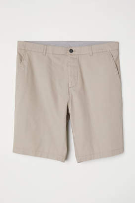 H&M Knee-length Cotton Shorts - Brown