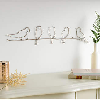 Graham & Brown Soft Rose Gold-Tone Bird on a Wire Wall Art