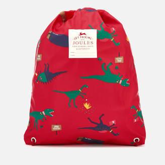Joules Boys' Junior Rubber Drawstring Bag - Red Dinosaur