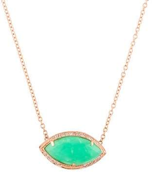 Jacquie Aiche 14K Chrysoprase & Diamond Marquise Pendant Necklace
