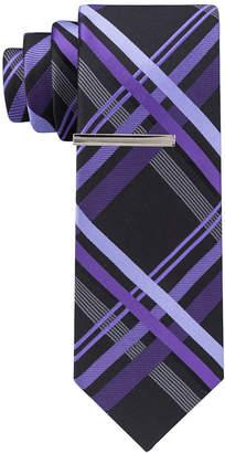 Jf J.Ferrar Plaid Tie XL