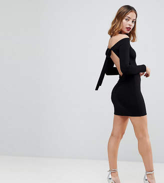 Asos Mini Bodycon Dress with Bow Back