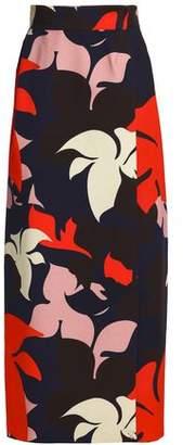 DELPOZO Floral-print Cotton Maxi Skirt