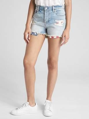 """Gap High Rise 3"""" Denim Shorts in Distressed"""