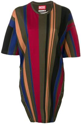 Diesel Red Tag oversized striped T-shirt