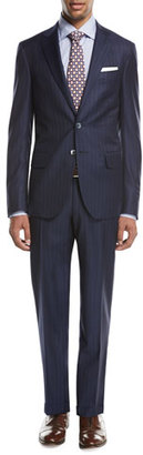Isaia Gregorio Striped Wool Two-Piece Suit, Navy $3,895 thestylecure.com