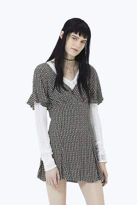 Marc Jacobs Flower Chain Ruffle Mini Dress