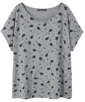 Violeta BY MANGO Rock printed t-shirt