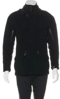 Ralph Lauren Black Label Leather-Trimmed Wool Utility Jacket