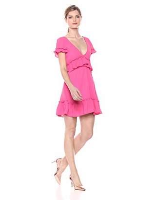 LIKELY Women's Brason Ruffle Trim Flowy Party Dress