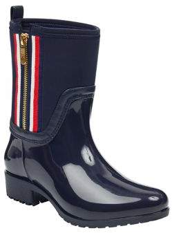 Tommy Hilfiger Frills Side-Striped Rain Booties