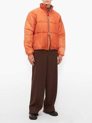 Our Legacy Walrus Puffa Faded Silk Blend Jacket - Mens - Orange