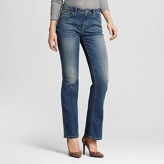 Women's Mid-rise Bootcut Jeans (Curvy Fit) Medium Wash - Mossimo $27.99 thestylecure.com
