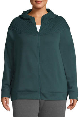 ST. JOHN'S BAY SJB ACTIVE Active Quilted Texture Mix Jacket - Plus
