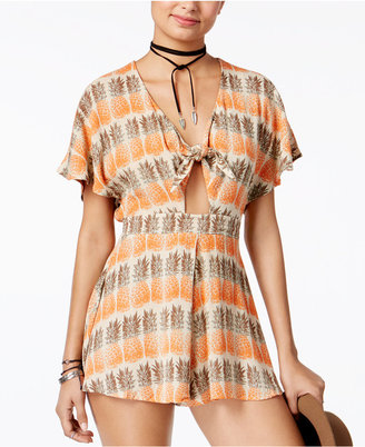 American Rag Printed Tie-Front Romper, Only at Macy's $59.50 thestylecure.com