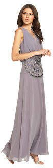 Drape Maxi Dress In Grey Size 6