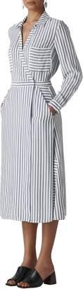 Whistles Stripe Wrap Shirtdress