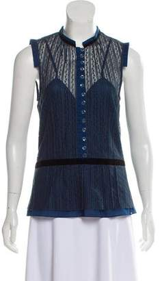 Marc Jacobs Lace Button-Up Blouse