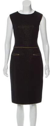 Chanel Wool Metallic-Accented Dress
