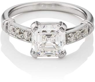 Stephanie Windsor Antiques Women's Asscher-Cut White-Diamond Ring