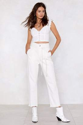 Nasty Gal Come Clean High-Waisted Jeans