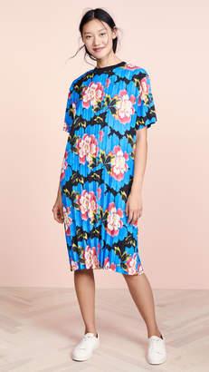 Kenzo Long Pleated Tee Dress