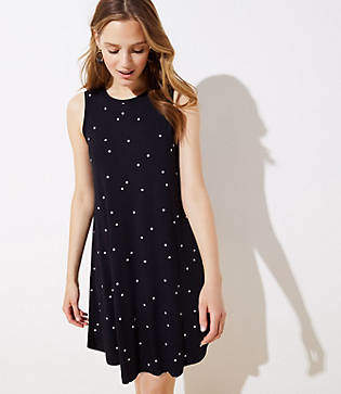 LOFT Polka Dot Swing Dress