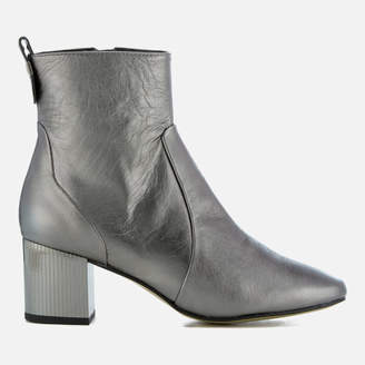 at Allsole Carvela Women's Strudel Leather Heeled Ankle Boots - Gunmetal
