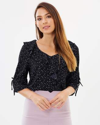Forcast Sadie Frill Blouse