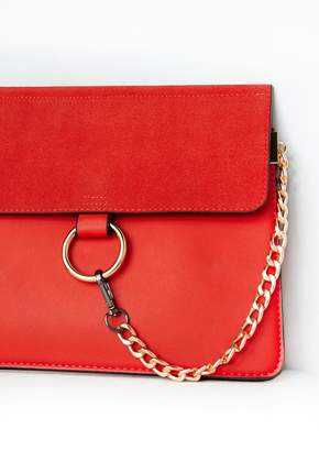 501c582dc117 Missy Empire Missyempire Alois Rust Circle Trim Chain Clutch Bag