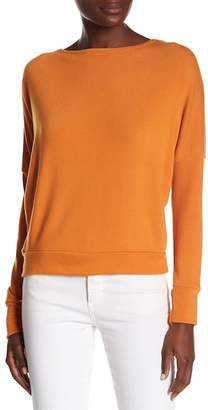 Couture Go Long Sleeve V-back Pullover Top