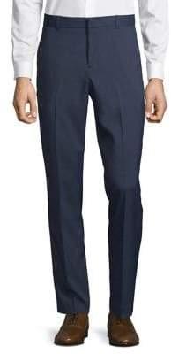 Perry Ellis Portfolio Slim Fit Small Check Dress Pants