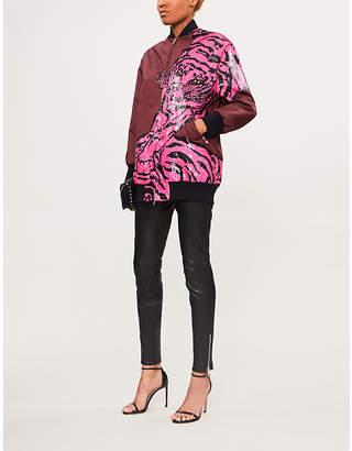 Valentino Sequin-embellished tiger shell bomber jacket