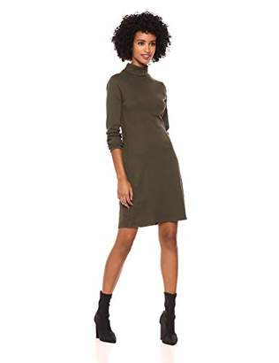 Three Dots Women's AA5836 Heritage Knit Turtleneck Dress