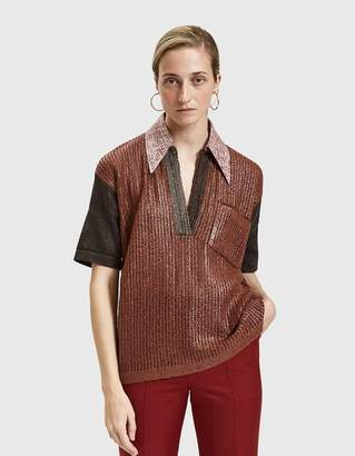 Acne Studios Temmo Coated Polo Shirt
