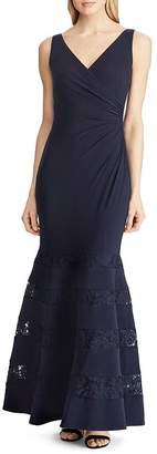 Ralph Lauren Lace-Inset Gown