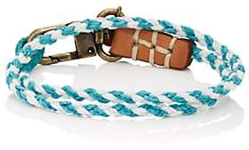 Co Caputo & CAPUTO & MEN'S BRAIDED DOUBLE-WRAP BRACELET-TURQUOISE