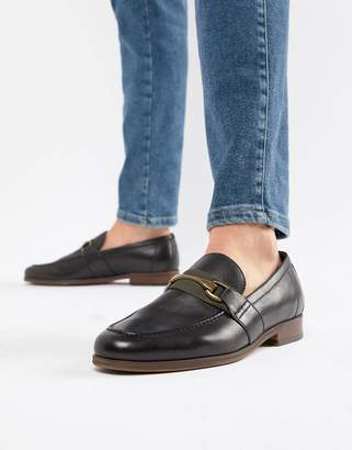 Aldo Gwiradien bar loafers in black leather