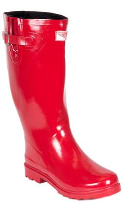 Forever Young Women Rubber Rain Boots/w Faux Fur Lining (, 9)