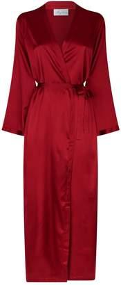 Marjolaine Long Silk Robe
